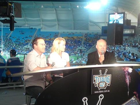 Sam on Titans TV - Gold Coast